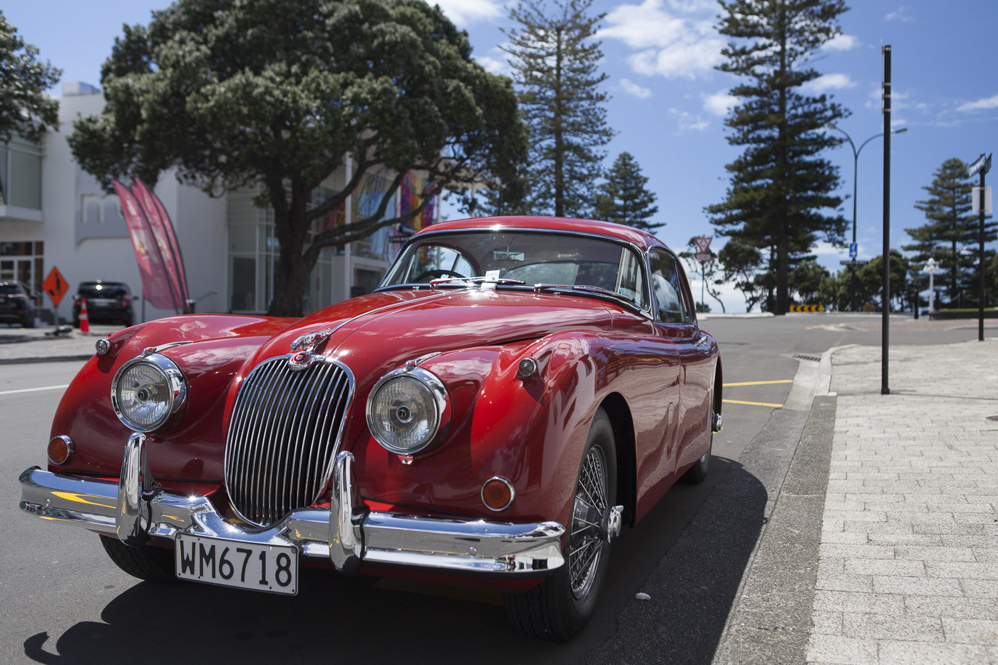 Not only buildings have style in Napier - but even pieces of art get parking tickets.