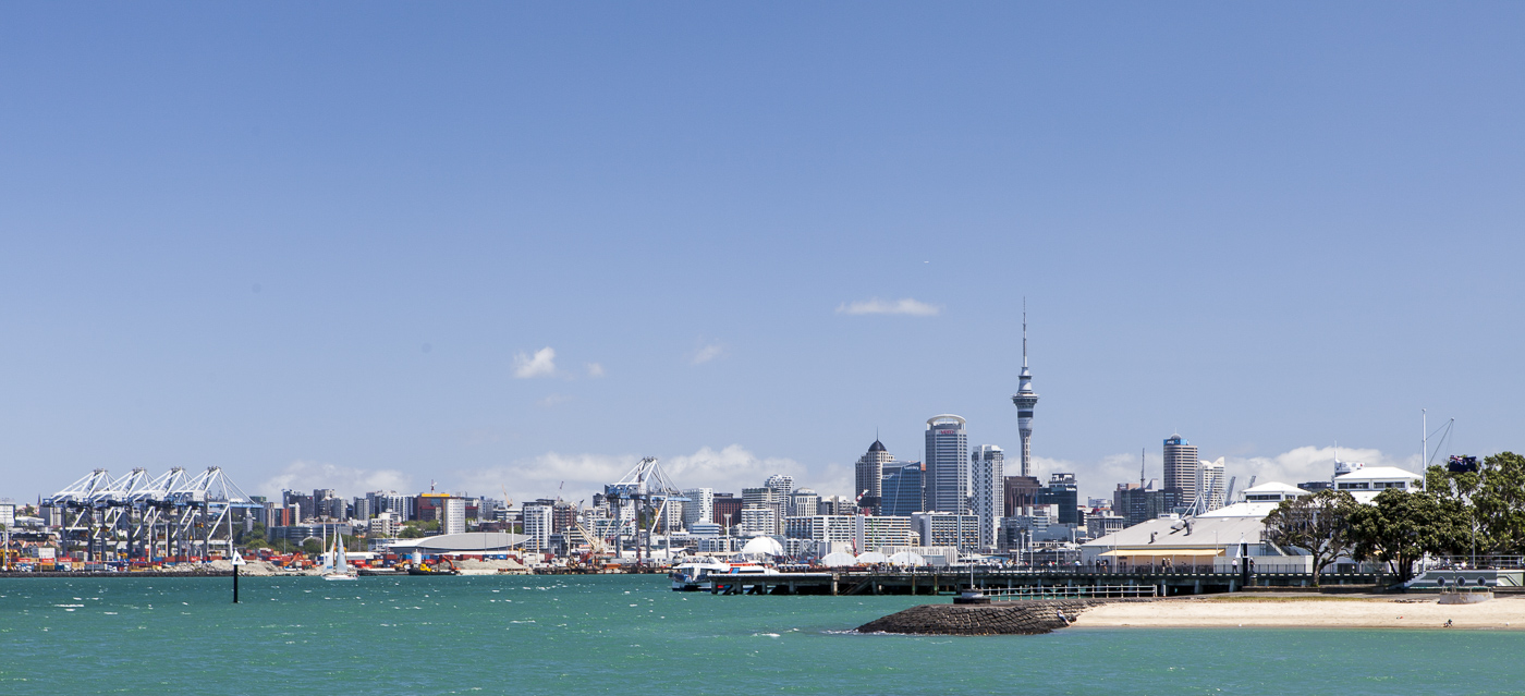 Auckland in blue skies this time